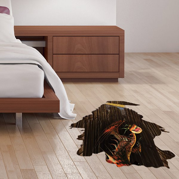 earthy bedroom colors amazing fierce dinosaur floor decoration removable 3d wall 11490