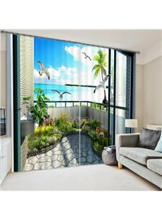 High Quality 3D Scenery Energy Saving Curtain