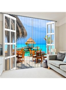 3D Beautiful Sea High Quality Blackout Curtain