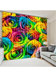 3D Romantic Roses Energy Saving Curtain