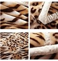 Wild Cool Leopard Thick Warm Polyester Blanket