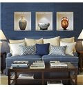 China Vase 3-Panel Removable 3D Wall Sticker