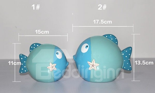 Creative Cartoon Sea Fish Design Saving Box Desktop Decoration