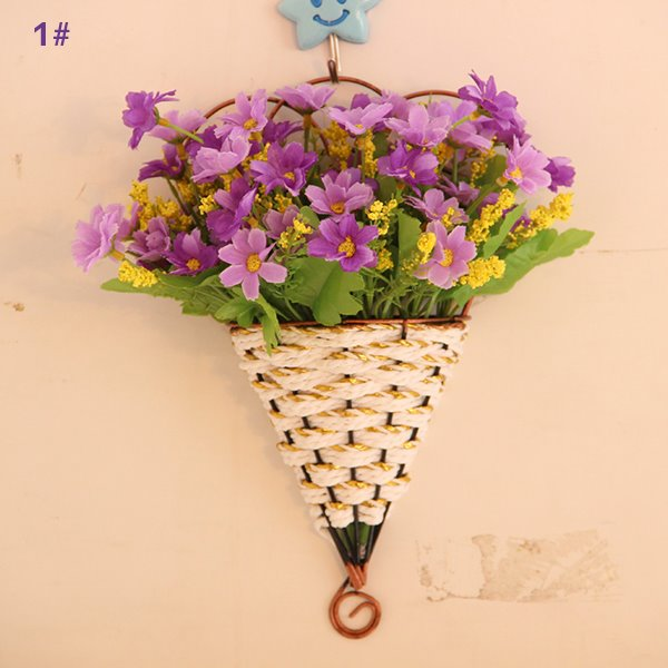 Lovely Wall Decoration Daisy in Basket Wall Flower Sets