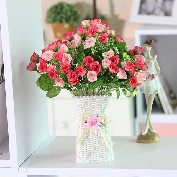 Gorgeous Table Decoration Artificial Flower Rosebud Flower Sets