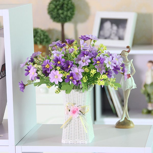 Pretty Artificial Flowers Daisy Table Flower Set Beddinginn