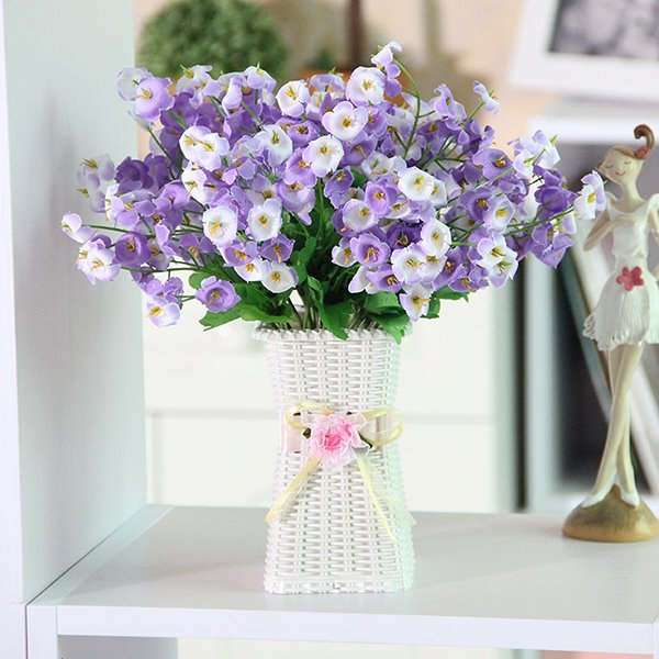 Pretty Artificial Flowers Table Decoration Bell Flower Sets
