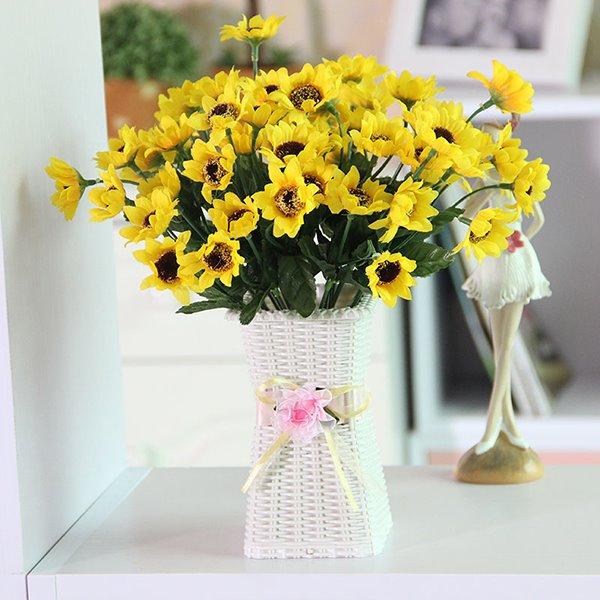 Gorgeous Table Vase Artificial Flower Piece Sunflower Set
