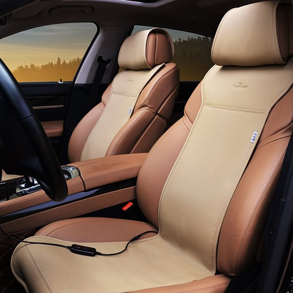 Popular Electric Heating Durable Contrast Color Car Seat Covers