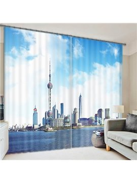 Hot Selling 3D Scenery Energy Saving Curtain