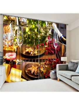 New Home Fashion Quality Polyester 3D Blackout Curtain