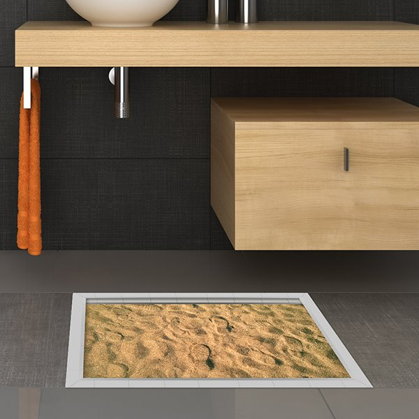 Unique Desert Slipping-Preventing Water-Proof Bathroom 3D Floor Sticker