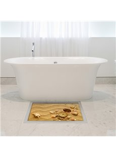 Wonderful Seashells in Desert Slipping-Preventing Water-Proof Bathroom 3D Floor Sticker