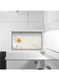Seashells and Starfish Slipping-Preventing Water-Proof Bathroom 3D Floor Sticker