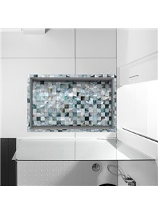 Classic Mosaic Design Slipping-Preventing Water-Proof Bathroom 3D Floor Sticker