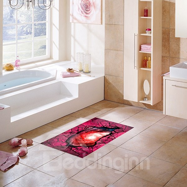 Creative 3D Broken Floor Slipping-Preventing Water-Proof Bathroom 3D Floor Sticker