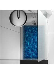 Glittering Gental Ripples of Water Slipping-Preventing Water-Proof Bathroom 3D Floor Sticker