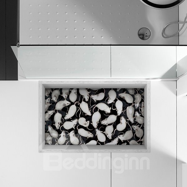 Little Guinea Pigs Slipping-Preventing Water-Proof Bathroom 3D Floor Sticker
