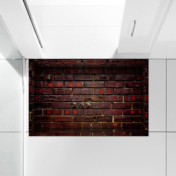 Mystery Ancient Brick Wall Slipping-Preventing Water-Proof Bathroom 3D Floor Sticker