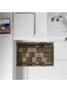 Creative Wood Flooring Design Slipping-Preventing Water-Proof Bathroom 3D Floor Sticker