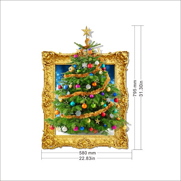 Festival Christmas Decoration Christmas Tree 3D Wall Sticker