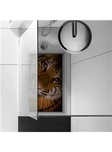 Amazing Tiger Pattern Slipping-Preventing Water-Proof Bathroom 3D Floor Sticker
