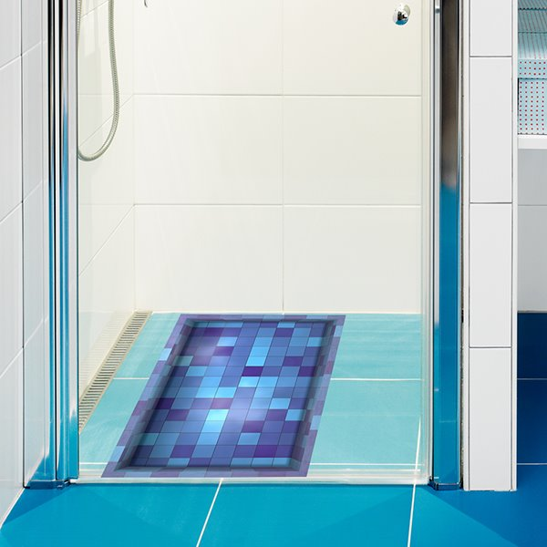 Colorful Mosaic Pattern Slipping-Preventing Water-Proof Bathroom 3D Floor Sticker