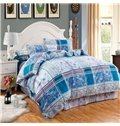 Classical Plaid Lovely Polka Dots Design 4-Piece Duvet Cover Sets