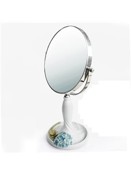 Decorative Desk Table Double-Sides Mirror Desktop Decorations