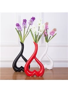 Modern Unique 3-Color Heart-Shaped Ceramic Table Decoration Flower Vase