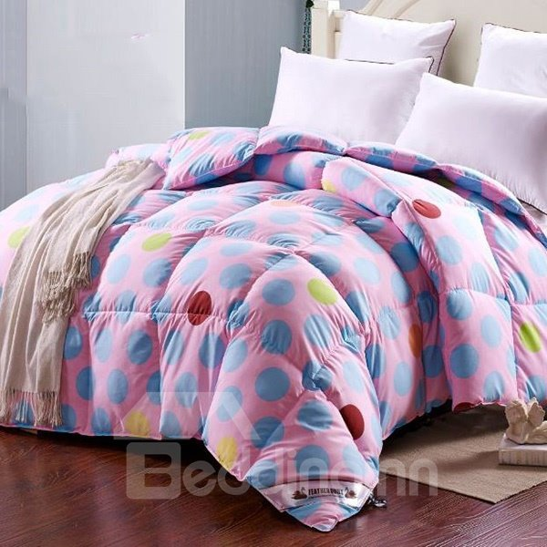 Lovely Colorful Polka Dots Print Down Quilt