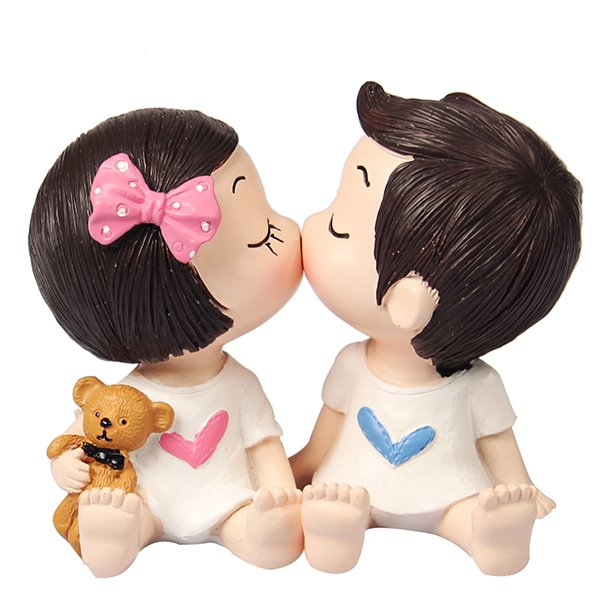 Cartoon Characters Kissing : Lovely and exquisite kissing cartoon character resin