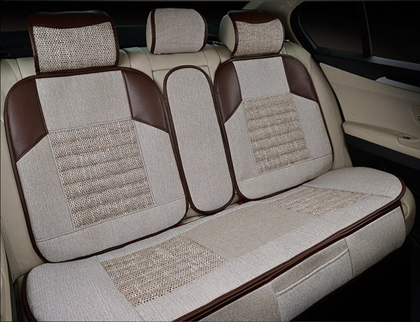 Luxurious Formal Designed And Breathable Linen Material Universal Car Seat Cover
