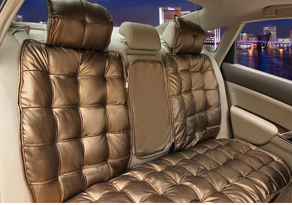 Elegant Super Comfortable Square Patterned Pure Colored Car Seat Cover