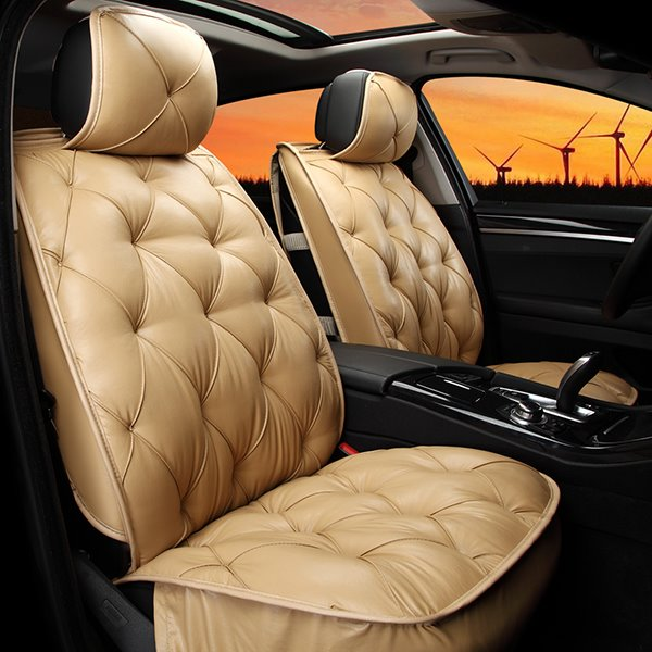 Elegant Super Comfortable Rhombus Patterned Pure Colored Car Seat Cover