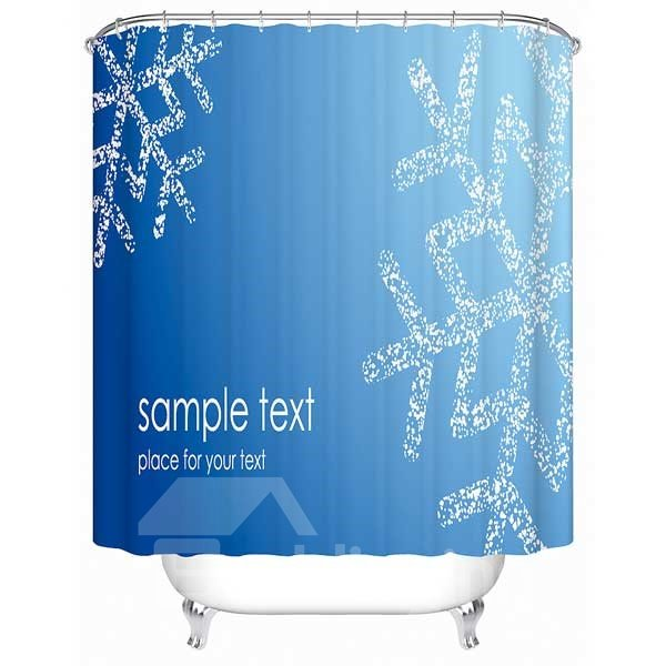 Big Snowflake Print 3D Shower Curtain