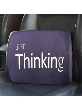 Meaningful Simple Letter Patterned Linen Car Pillow