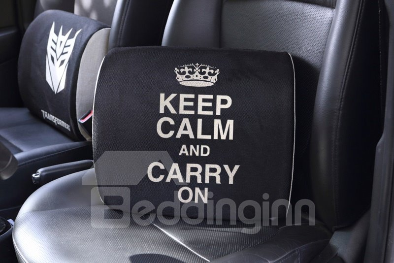 Meaningful Sayings Patterned Creative Car Pillow