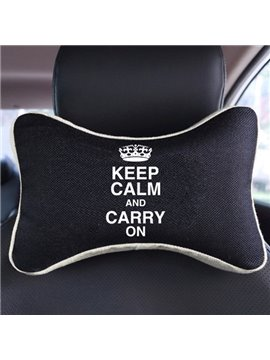 Meaningful Sayings Patterned Fashion Car Neckrest Pillow