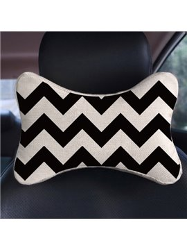 Concise Geometric Stripe Patterned Car Neckrest Pillow