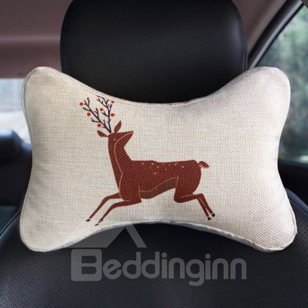 Creative Abstract Reindeer Patterned Car Neckrest Pillow