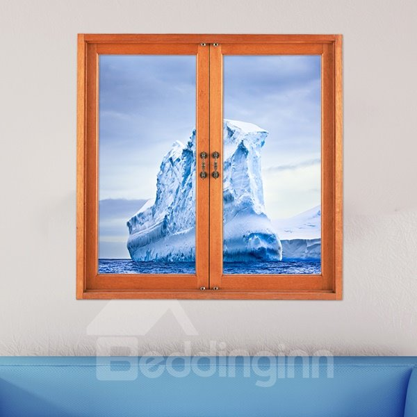 Unique Huge Floating Iceberg Window View Removable 3D Wall Stickers
