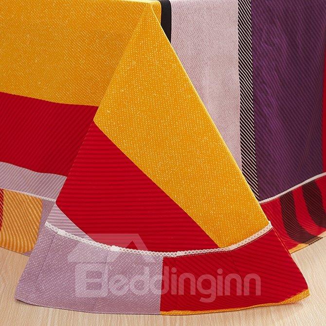 Concise Stripe Design Super Cozy Cotton 4-Piece Duvet Cover Sets