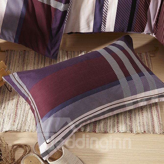 Faddish Classical Stripe Design 4-Piece Duvet Cover Sets