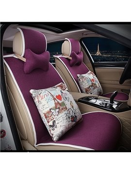 Easy to install Concise Designed with Lovely Cushions Car Seat Cover Set