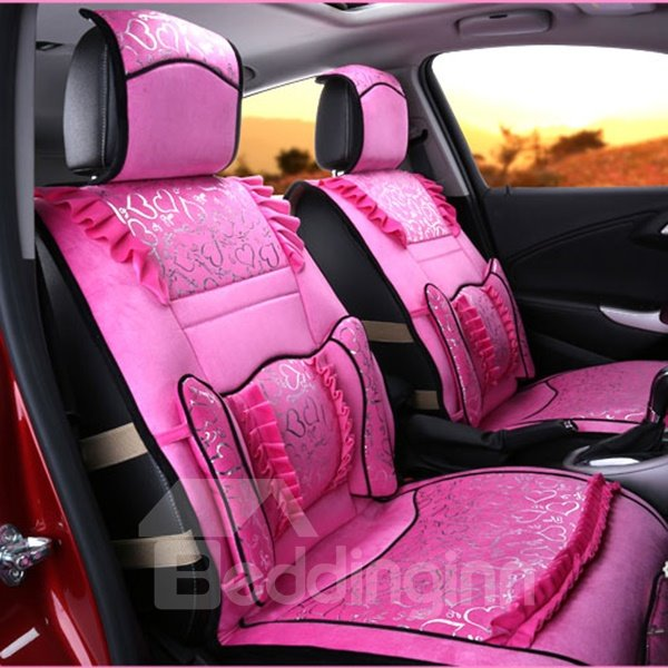 Outstanding Beautiful Elegent Heart Patterned Car Seat Cover