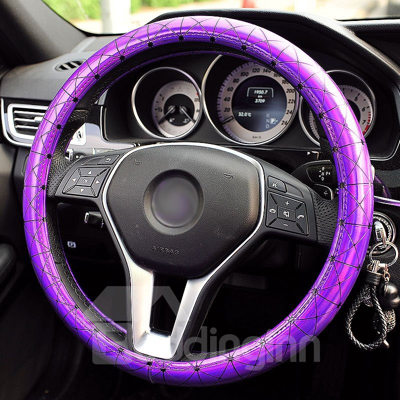 Shiny Pure Colored Premium Car Steering Wheel Cover