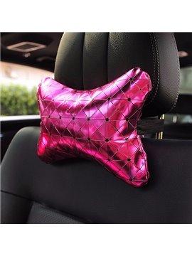 Shiny Pure Colored Premium Car Neckrest Pillow