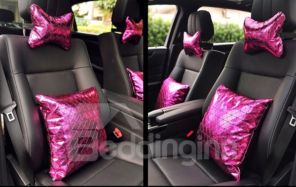 Shiny Pure Colored Premium Car Seat Pillow