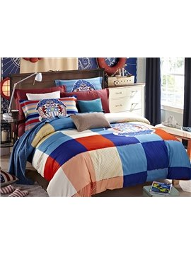 European Concise Style Plaid 4-Piece Duvet Cover Sets